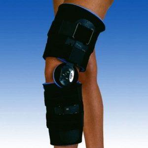 Ortesis corta para rodilla inmovilizadora de articulación