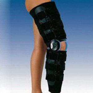 Ortesis larga para rodilla de flexo extensión