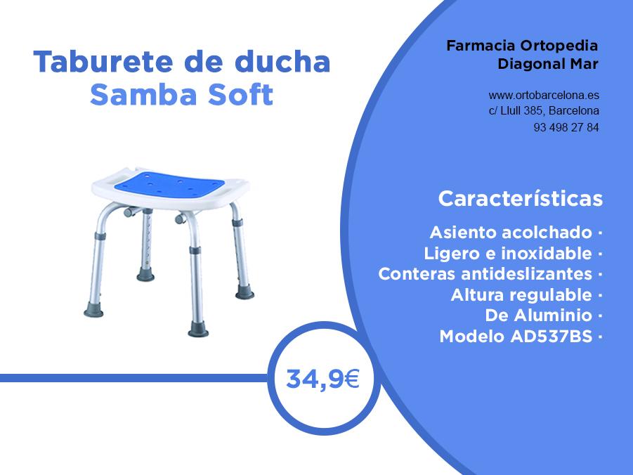 Taburete ducha Samba Soft