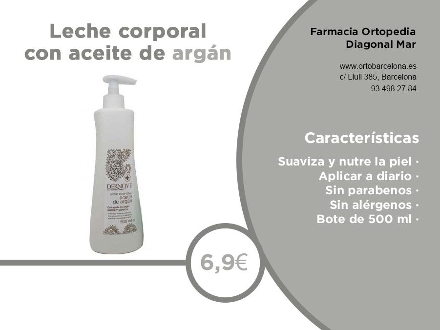 Dernove leche corporal aceite argan