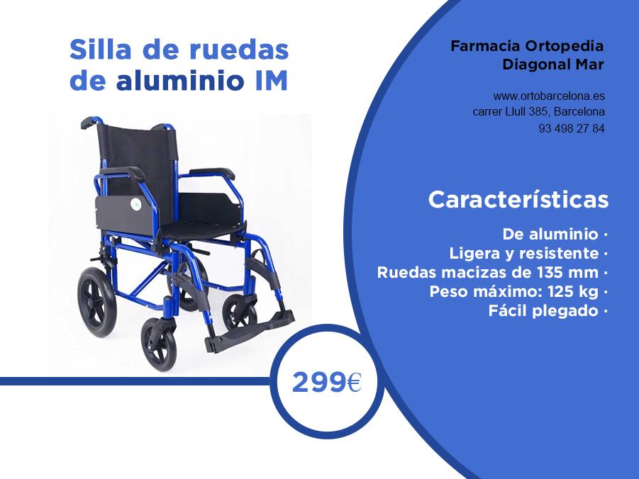 silla ruedas alumini