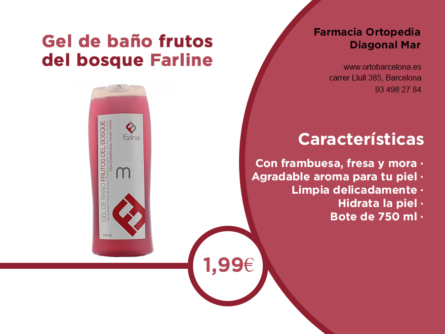 gel de baño frutos del bosque farline